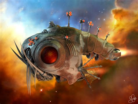 design wallpapers modern science fiction 3d surrealism