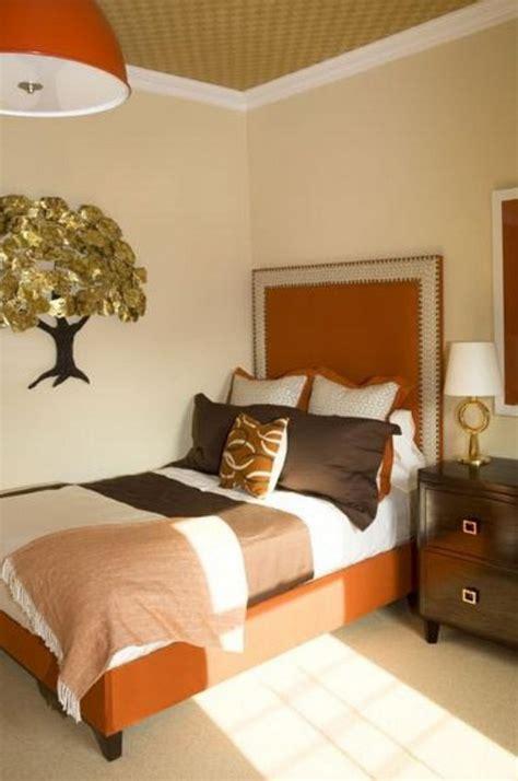 Bedroom Designs Orange Bedroom With Cremae Wall, Master