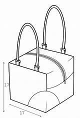 Bag Drawing Bags Sewing Pattern Technical Getdrawings Lekala sketch template