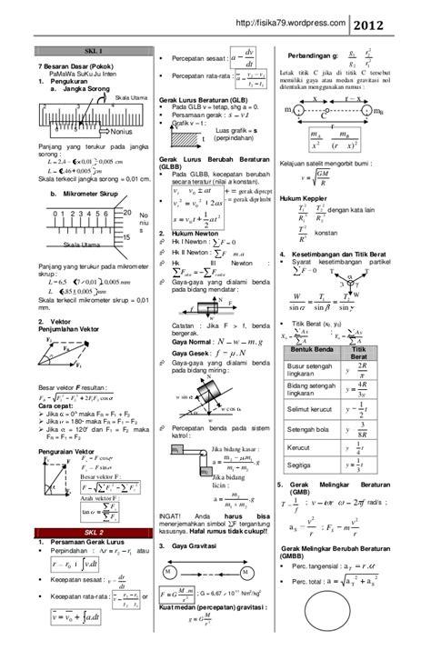 rumus fisika per skl