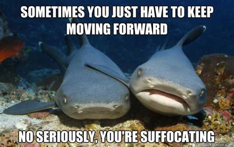 Moving On Meme - sometimes you just have to keep moving forward no seriously you re suffocating compassionate