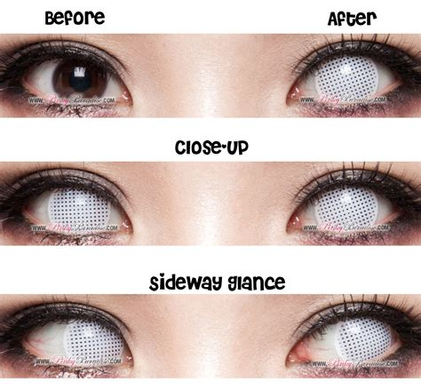 Halloween Contacts No Prescription by Halloween Contacts Princess Pinky Cosplay White Mesh