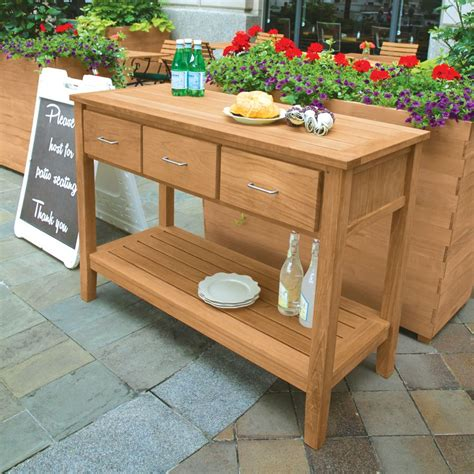 Outdoor Sideboard Table by Teak Outdoor Storage Buffet Bars And Buffets Table With