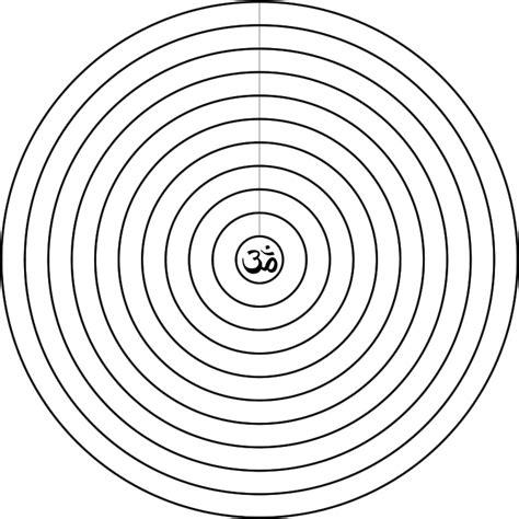 Mandala Concéntrico 10 Mandala para palabras o frases de ...