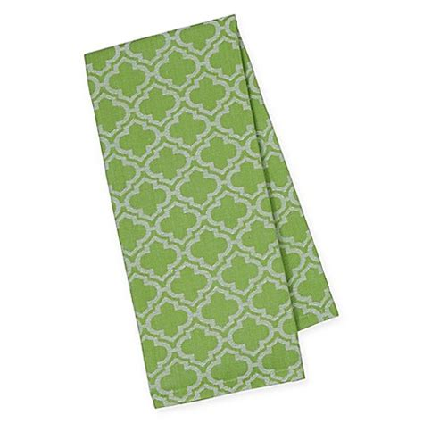 lime green kitchen towels buy lime lattice jacquard dish towels in green white set 7106