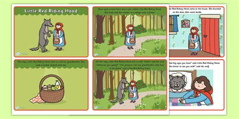 Little Red Riding Hood Story Sequencing With Text
