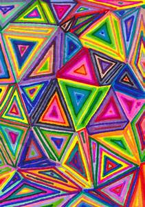 prismatic geometrystart with a shape (oil pastels ...