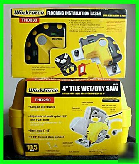 workforce thd250 wet dry tile stone saw cutter w laser