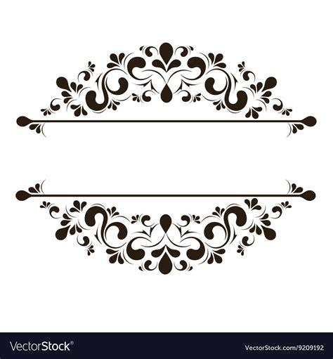 design elements  page border royalty  vector image