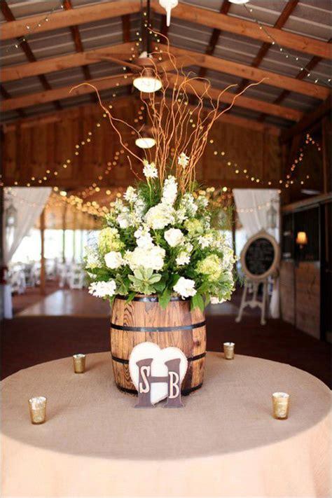 rustic wine barrels wedding decor ideas deer