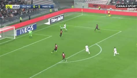 video angel  maria ridiculous chip goal psg  nice