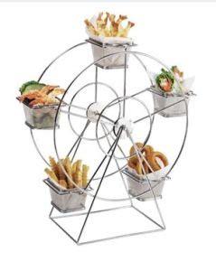 china stainless steel mini ferris wheel food serving holder   baskets dessert appetizer