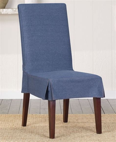 To Cover Chairs by Sure Fit Authentic Denim Dining Chair Cover Home