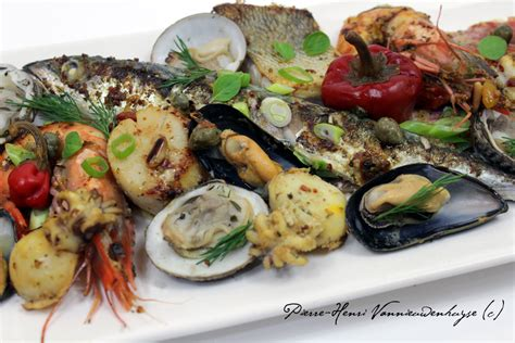 cuisine lotte parrillada de la mer à la plancha