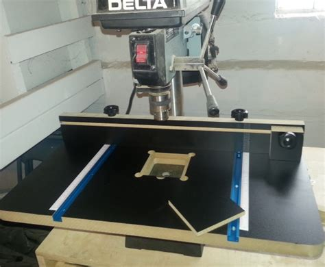 harbor freight drill press table woodworking talk