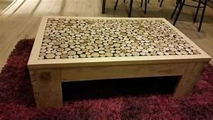 Table Basse En Bois Flotté : table basse fait maison de palettes et bois flott ~ Teatrodelosmanantiales.com Idées de Décoration