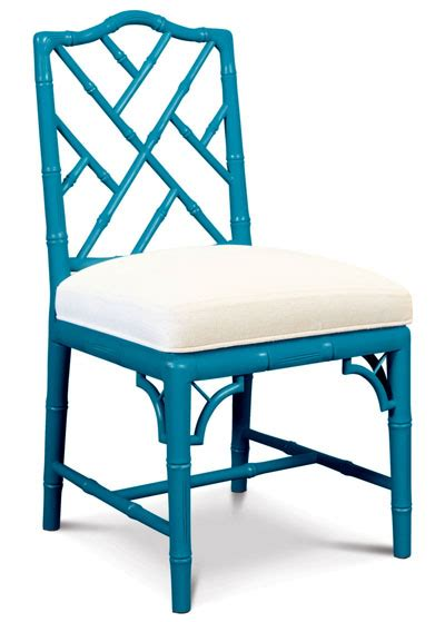 jonathan adler teal chippendale side chair everything