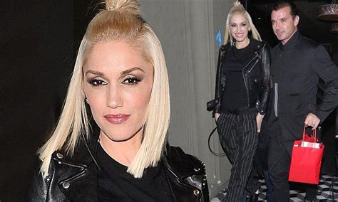Gwen Stefani wows in pinstripes on dinner date with Gavin ...