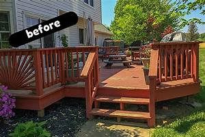 Deck & Cover Backyard Deck Ideas & Our Deck Makeover