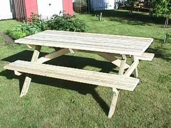 wooden  picnic table plans  plans
