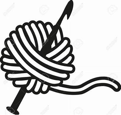 Crochet Needle Wool Yarn Needles Clipart Vector