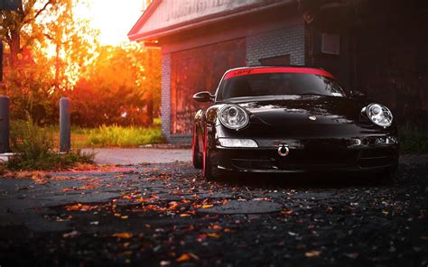 Black Porsche 911 Wallpaper