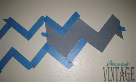 Chevron Template For Painting by Ansley Designs How To Paint Chevron Stripes