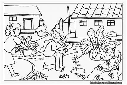 Scenery Coloring Pages Mountain Smart Printable Nature