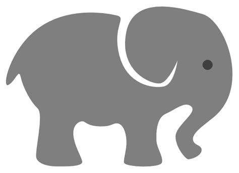 Scotties designs is home to thousands of svg, png, eps, jpg, and dxf and many other design resources. Grey Baby Elephant Clip Art at Clker.com - vector clip art ...