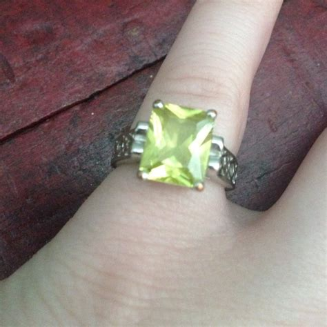 light green stone ring lia sophia lia sophia silver ring with light green stone