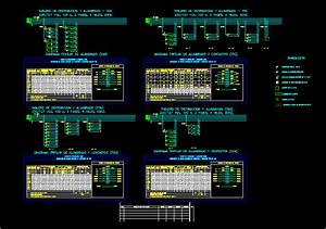 Table Of Charges And Diagram Unifilar Dwg Block For
