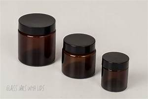 Cosmetic Amber Glass Jars, 30ml Glass Amber Cosmetic Jars