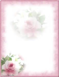 Printable Roses Stationery Paper