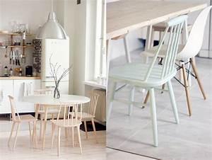 chaise de cuisine scandinave With idee deco cuisine avec mobilier scandinave vintage pas cher