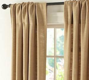 burlap curtains meagangracie With burlap drapes pottery barn