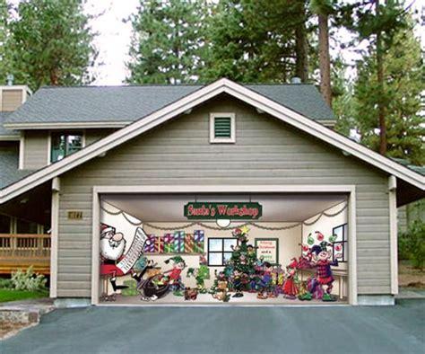 huge christmas decoration   garage door  fun