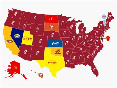 hottes cuisines best fast food chain in every state business insider