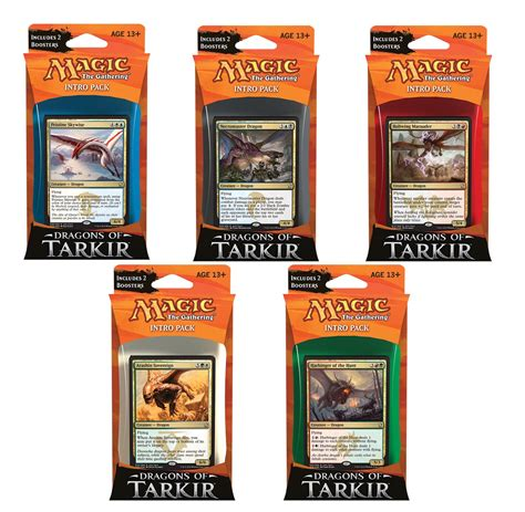 Magic The Gathering Deck Size magic the gathering dragons of tarkir intro pack dragons
