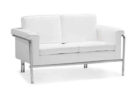 Modern White Leatherette Sofa Set Single Leather Sofas