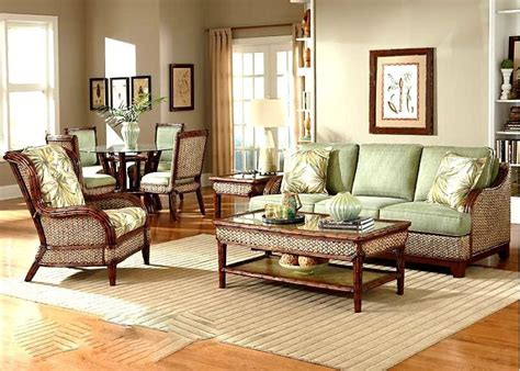 Sunroom Sofa Sets by Rattan Indoor Wicker 4 Pc Living Room Set Sofa Wi