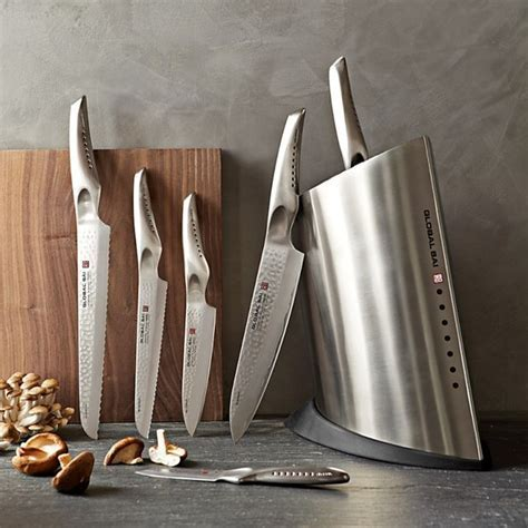 Fancy   Global Sai 7 Piece Knife Block Set