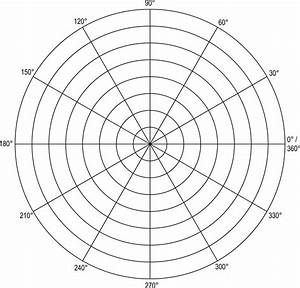 unit circle graph paper polar grid in degrees with radius 8 clipart etc