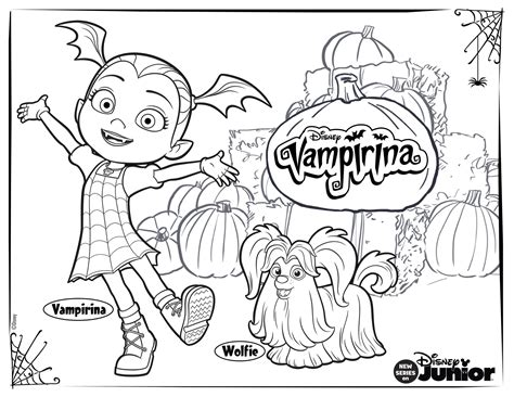 vampirina coloring pages     disney family