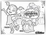 Coloring Vampirina Disney Pages Activity sketch template