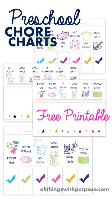 printable chore charts preschool contributor sugar bee 580 | preschool chores