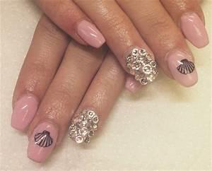 Day 51: Pink Seashell Nail Art - - NAILS Magazine