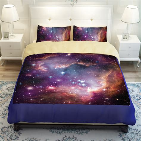 Hipster Galaxy Bedding Set Universe Outer Space Themed