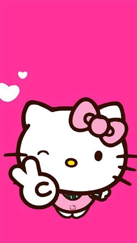 Pink Hello Kitty Background ·①