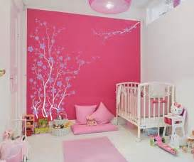 Cherry Blossom Bathroom Decor by Cute Pink And White Colors For Baby Nursery Bedroom