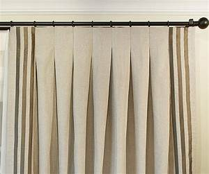 inverted pleat drapery ribbon border along both sides w With inverted pleat drapes